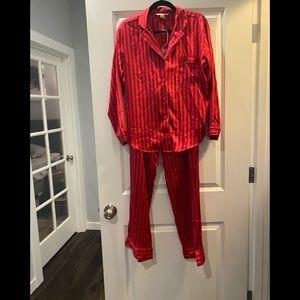 Victoria's Secret Red Satin Pajamas